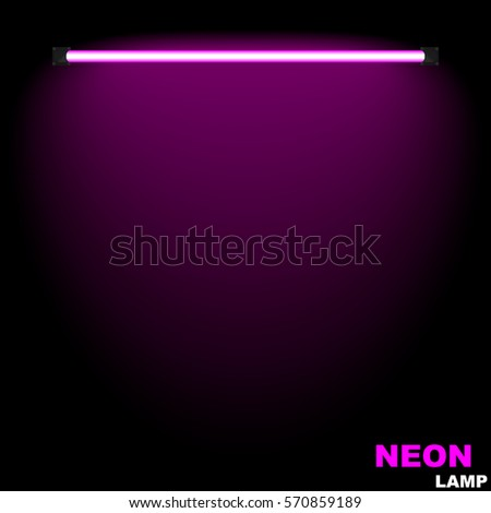 neon lampthe glow on the wall