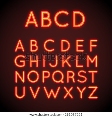 neon letters