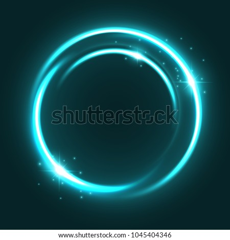 neon light circle with shine