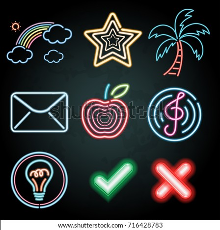 neon light decoration with