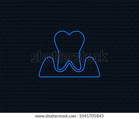 neon light parodontosis tooth