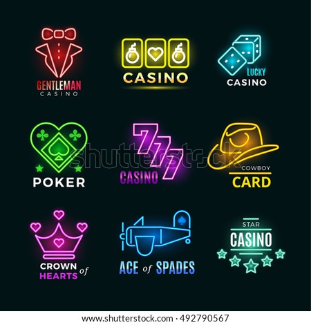 neon light poker club and