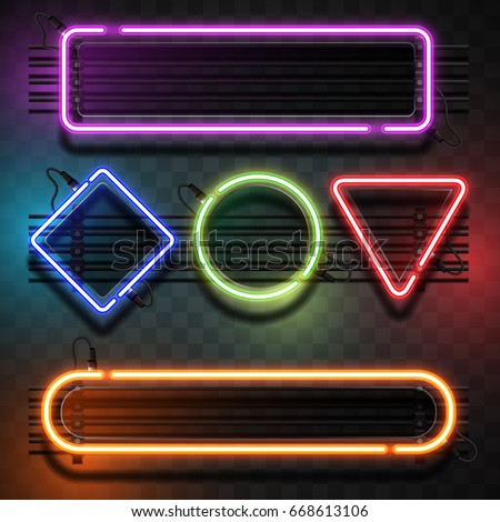Neon light template
