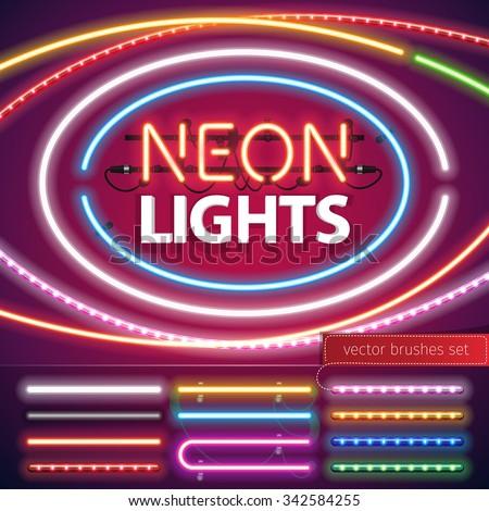 neon lights decoration set for