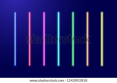neon luminescent glowing red