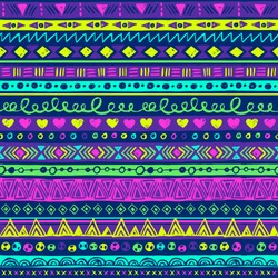 neon multicolor tribal vector seamless pattern. doodle fancy abstract geometric art print. ethnic hipster backdrop. Wallpaper, cloth design, fabric, paper, wrapping, textile design. hand drawn.