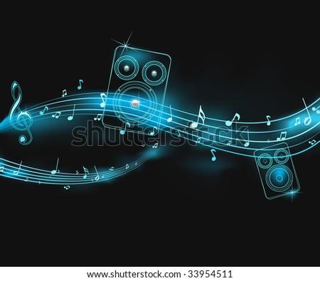 neon music illustration