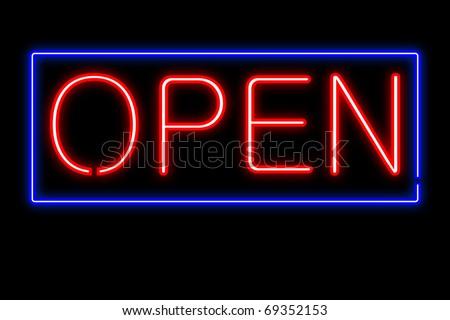 Neon Open Sign Vector
