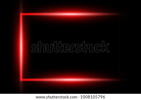 neon red glowing frame isolated