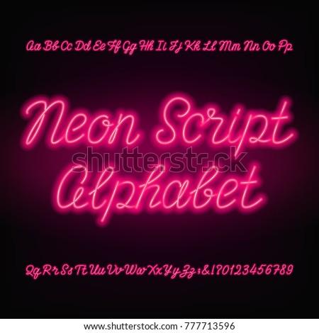 neon script alphabet font
