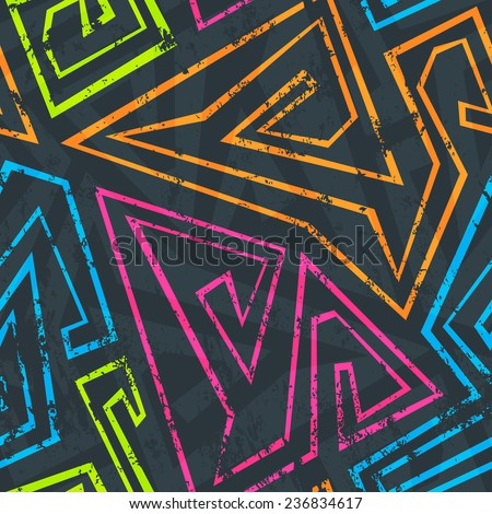 neon seamless pattern