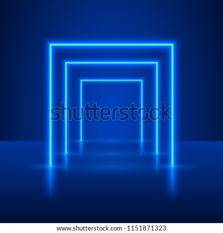 neon show light podium blue