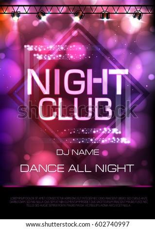 neon sign night club disco