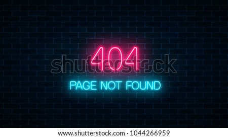 neon sign of 404 error page not
