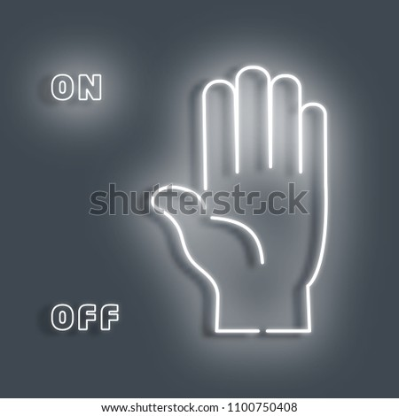 neon sign of the palm a white