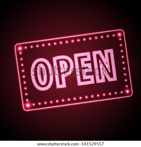 neon sign open vintage
