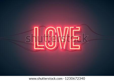 neon sign retro neon love sign