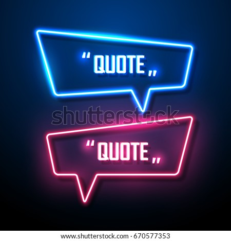 Neon sign speech bubble. Vector illustration.