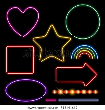 neon signs set vector