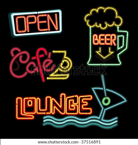 Neon signs - Vector collection