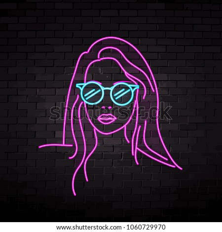 neon silhouette of a beautiful