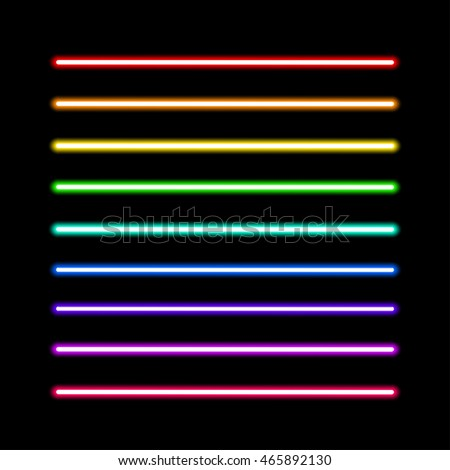 neon tube light pack isolated