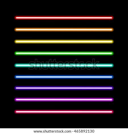 neon tube light pack isolated
