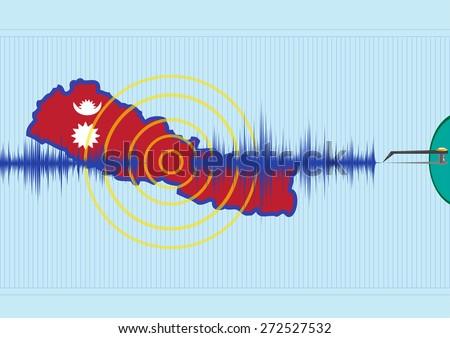 nepal earthquake concept