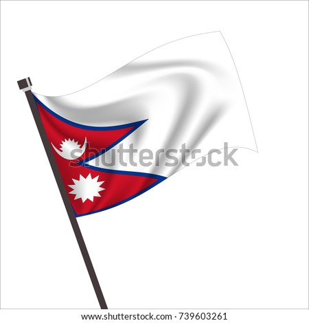 Nepal Flag. Nepal Icon vector illustration,National flag for country of Nepal isolated, banner vector illustration. Vector illustration eps10.