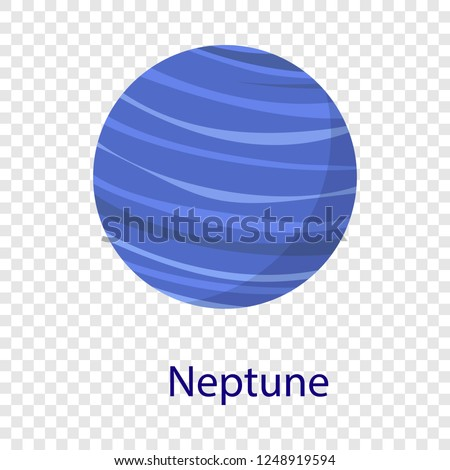 Neptune planet icon. Flat illustration of neptune planet vector icon