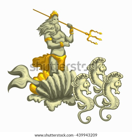 neptune with golden trident