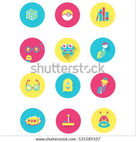 nerd icon set design