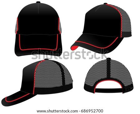 Hat template download free vector art stock graphics images net cap template maxwellsz
