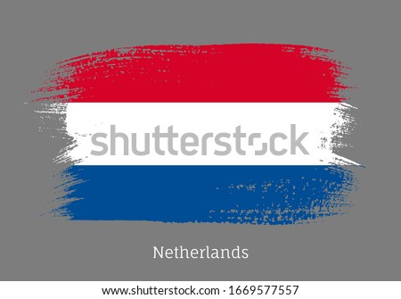 netherland official flag in