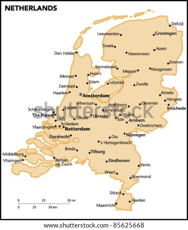 Netherlands Country Map