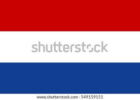 Netherlands Flag. Official colors and proportion correctly. National Flag of Netherlands. National Flag of Netherlands vector illustration. National Flag of Netherlands vector background.