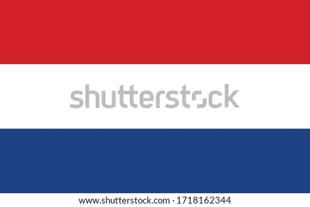 netherlands flag vector graphic