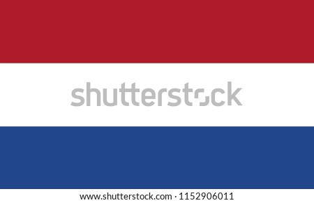 Netherlands Flag, Vector image and icon