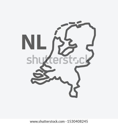 netherlands icon line symbol