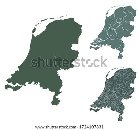 netherlands map outline vector