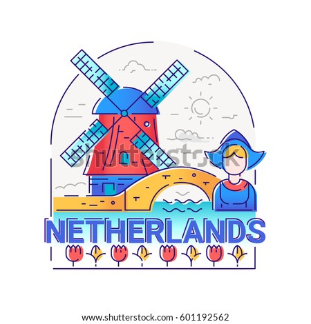 netherlands   modern vector