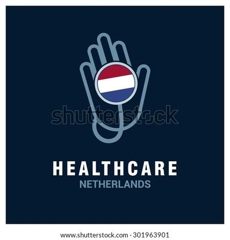 netherlands national flag on