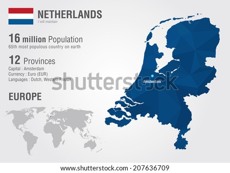 Free netherlands pixel map vector download free vector art stock netherlands world map with a pixel diamond texture world geography gumiabroncs Images