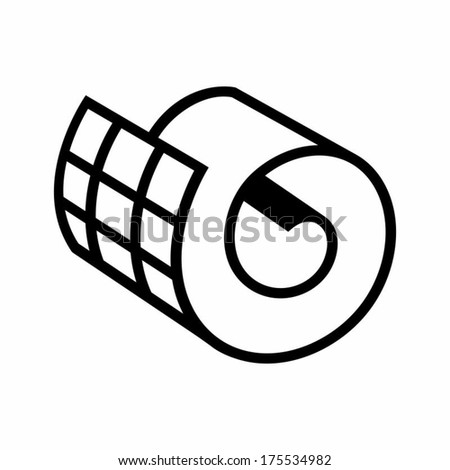 netting roll icon branding