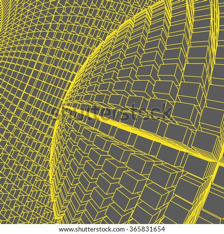 Network abstract background. 3d technology vector illustration.Abstract globe.3D Sphere with Lines. #365831654