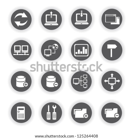 network and internet icon set