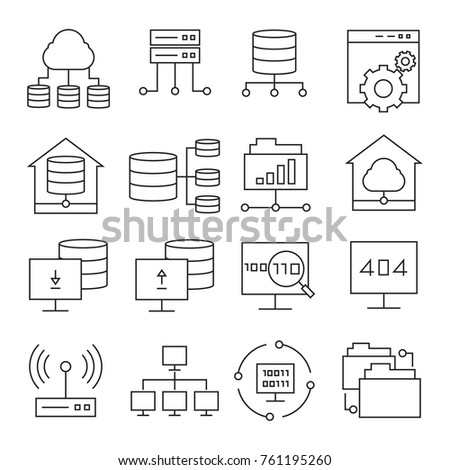 network and server icons