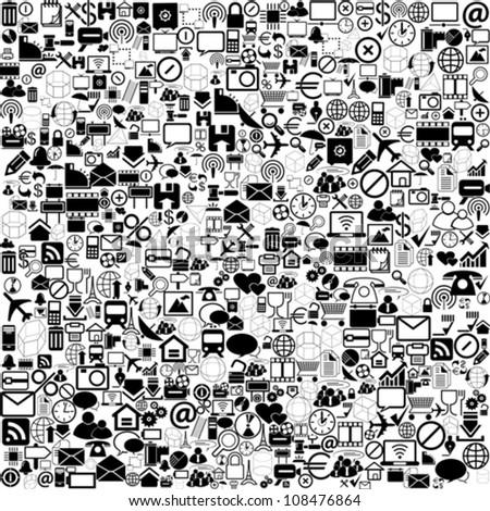 Network background, vector
