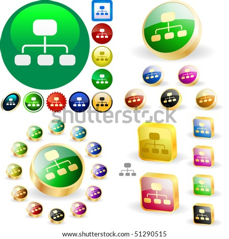 Network button for web. Vector great collection.