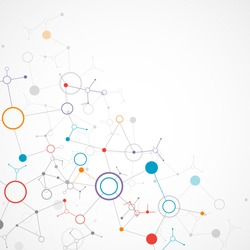 Network color technology communication background